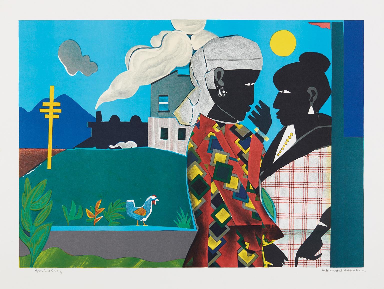 Romare Bearden-The Conversation-1979