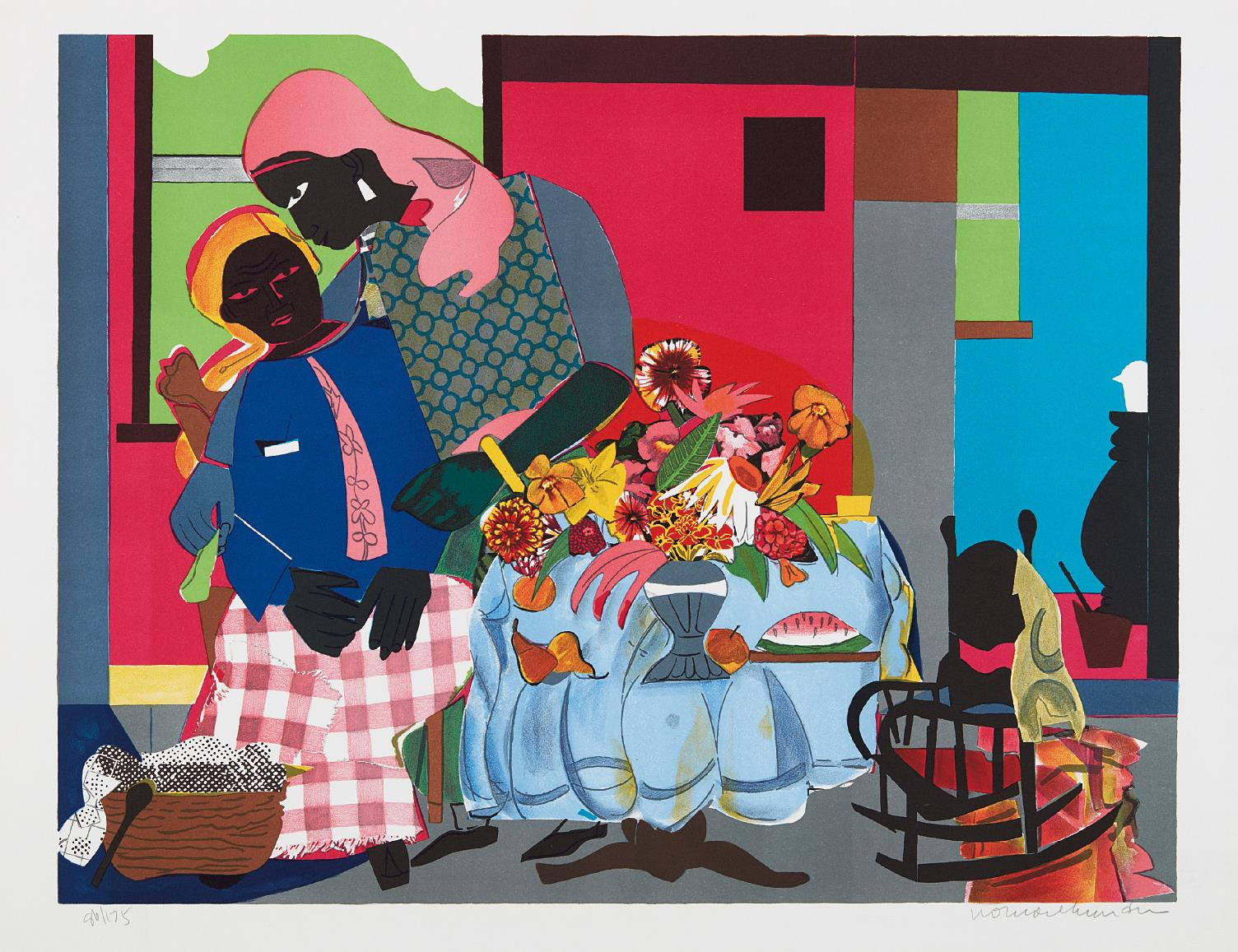 Romare Bearden-Morning-1979