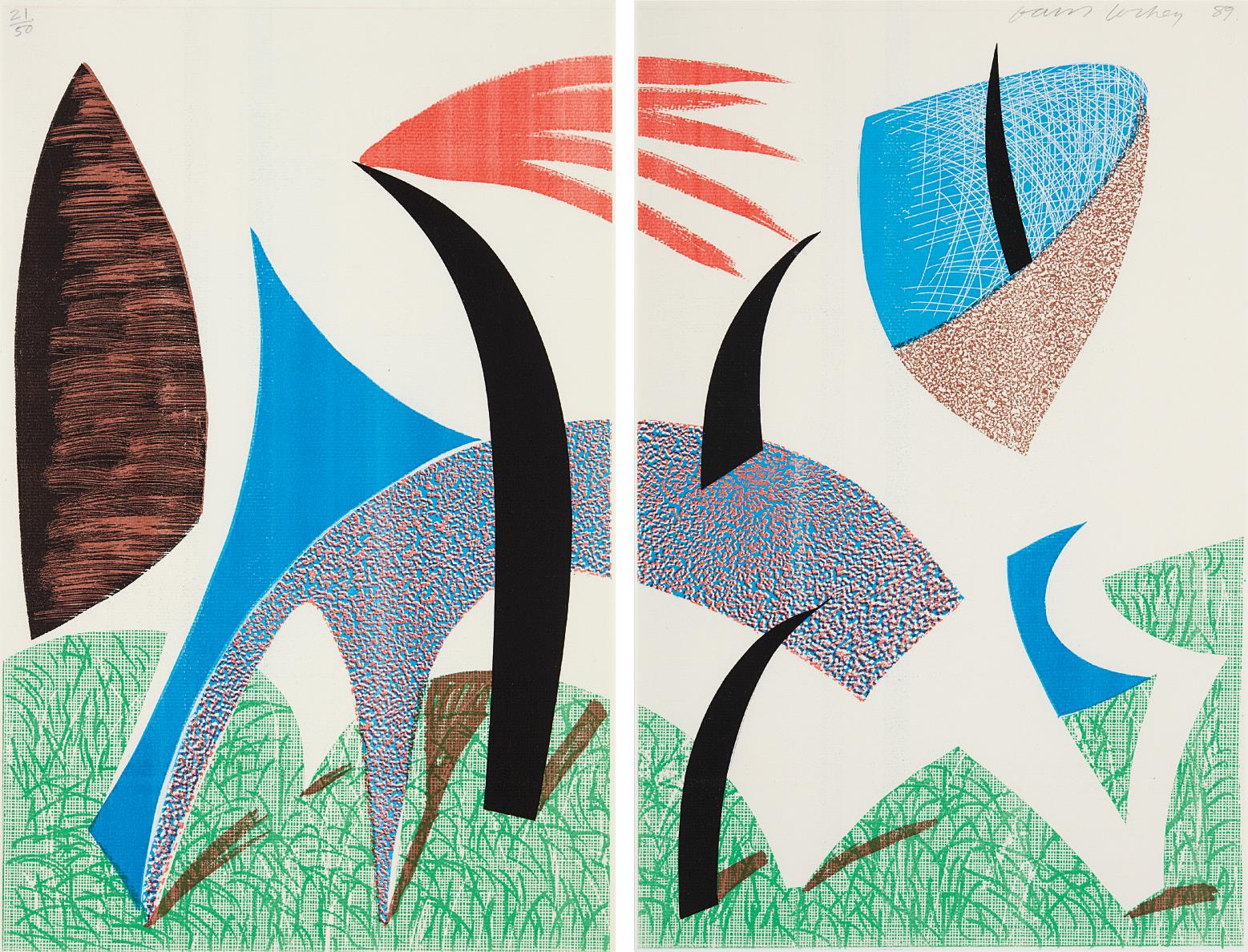 David Hockney-Diptychon-1989