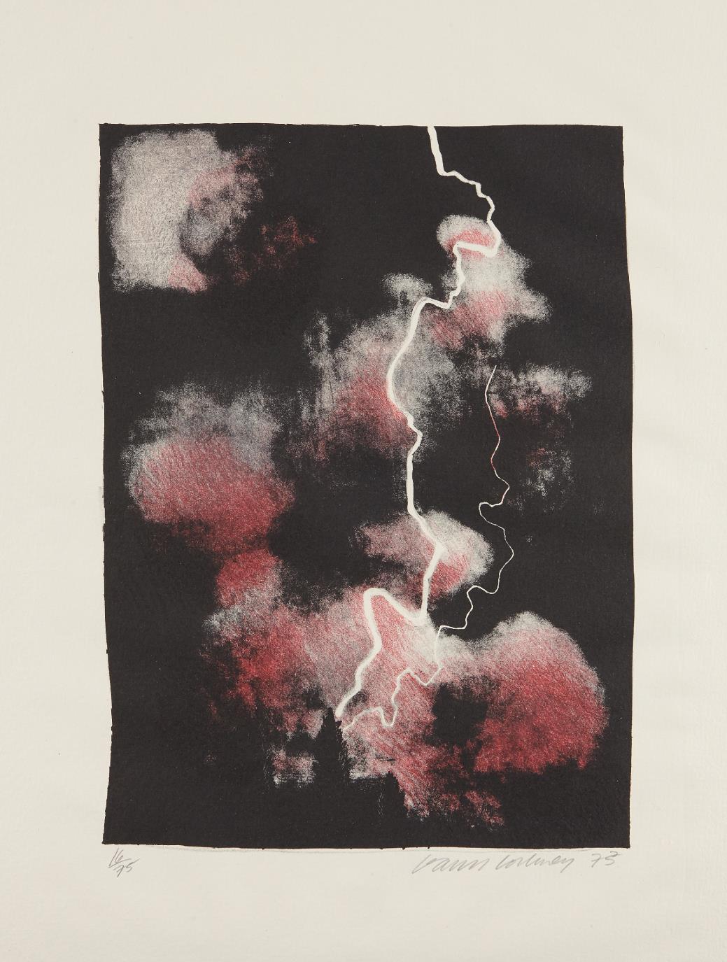 David Hockney-Smaller Study of Lightning-1973