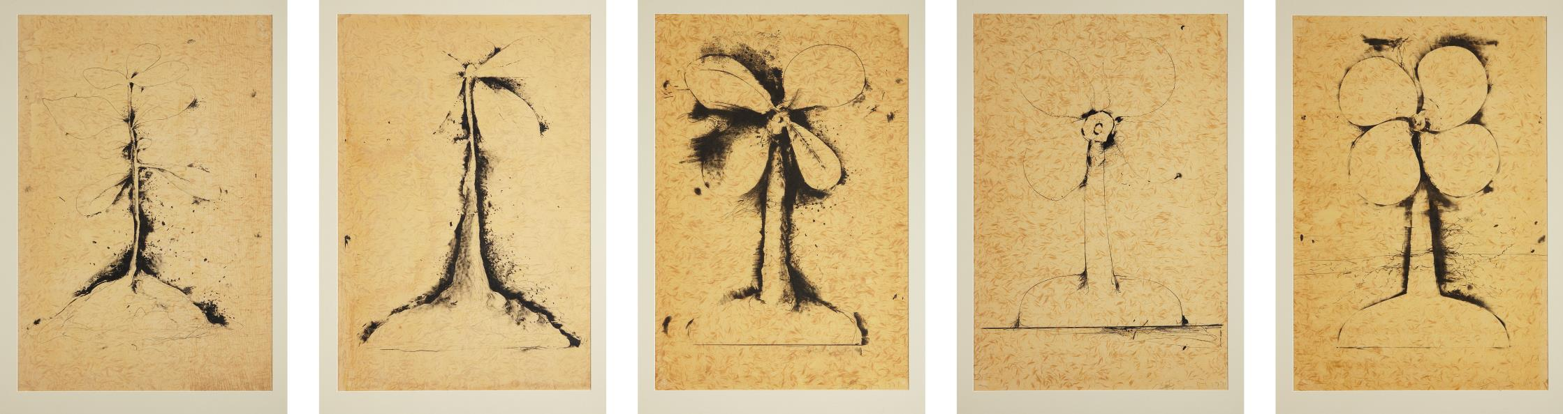 Jim Dine-Lithographs of the Sculpture: The Plant Becomes a Fan-1975