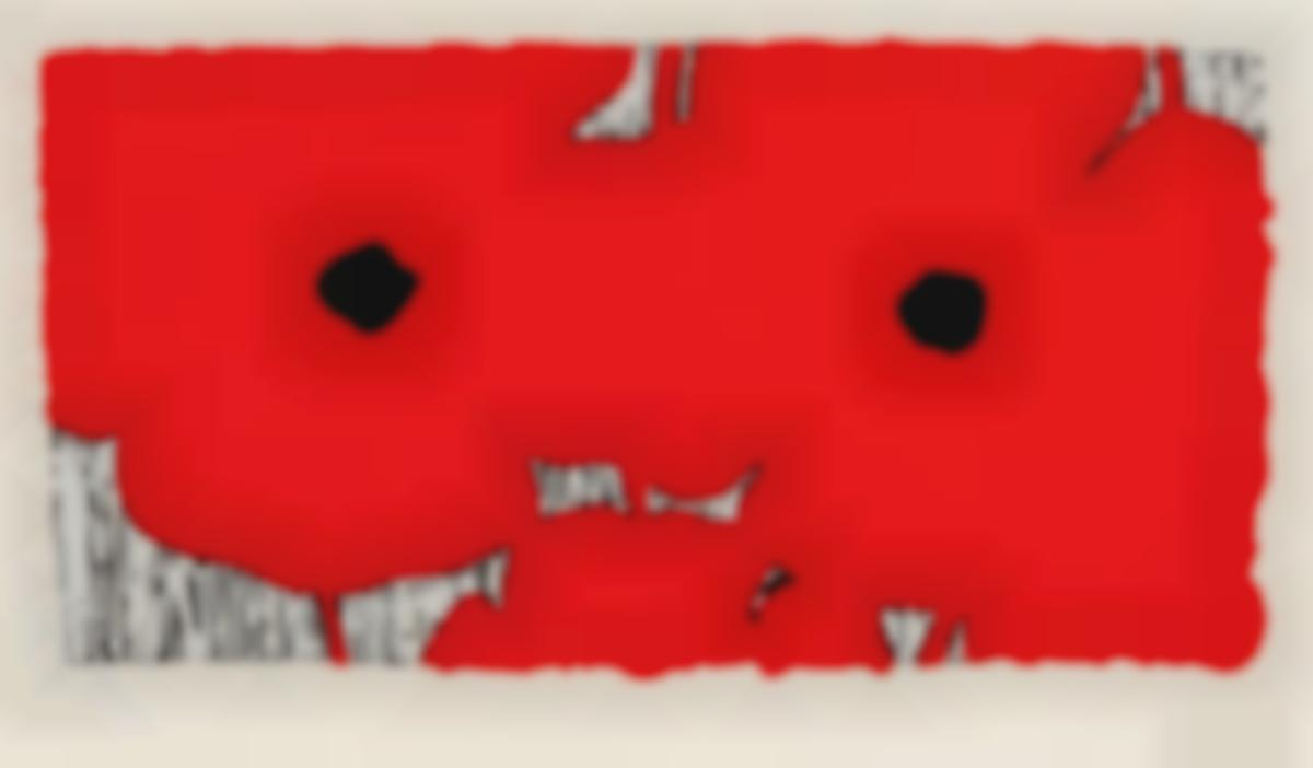 Donald Sultan-Red Poppies, July 24 2012-2012