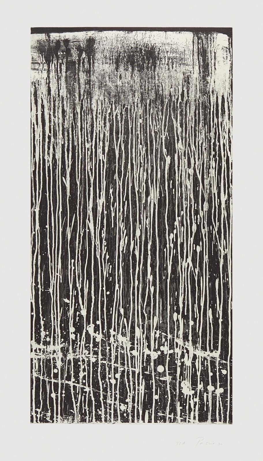 Pat Steir-Long Vertical Falls #4-1991