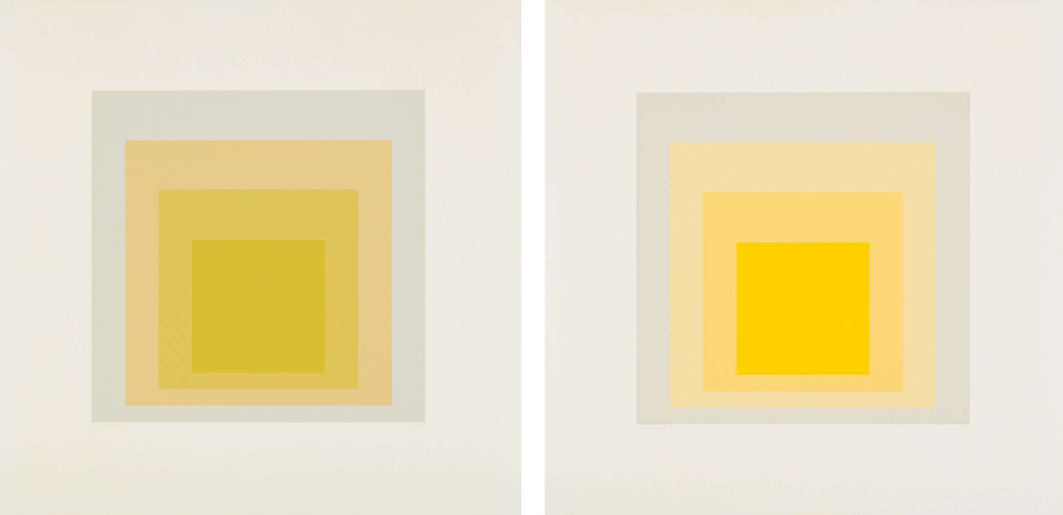 Josef Albers-I-S LXXIIIa; and I-S LXXIIIb-1973