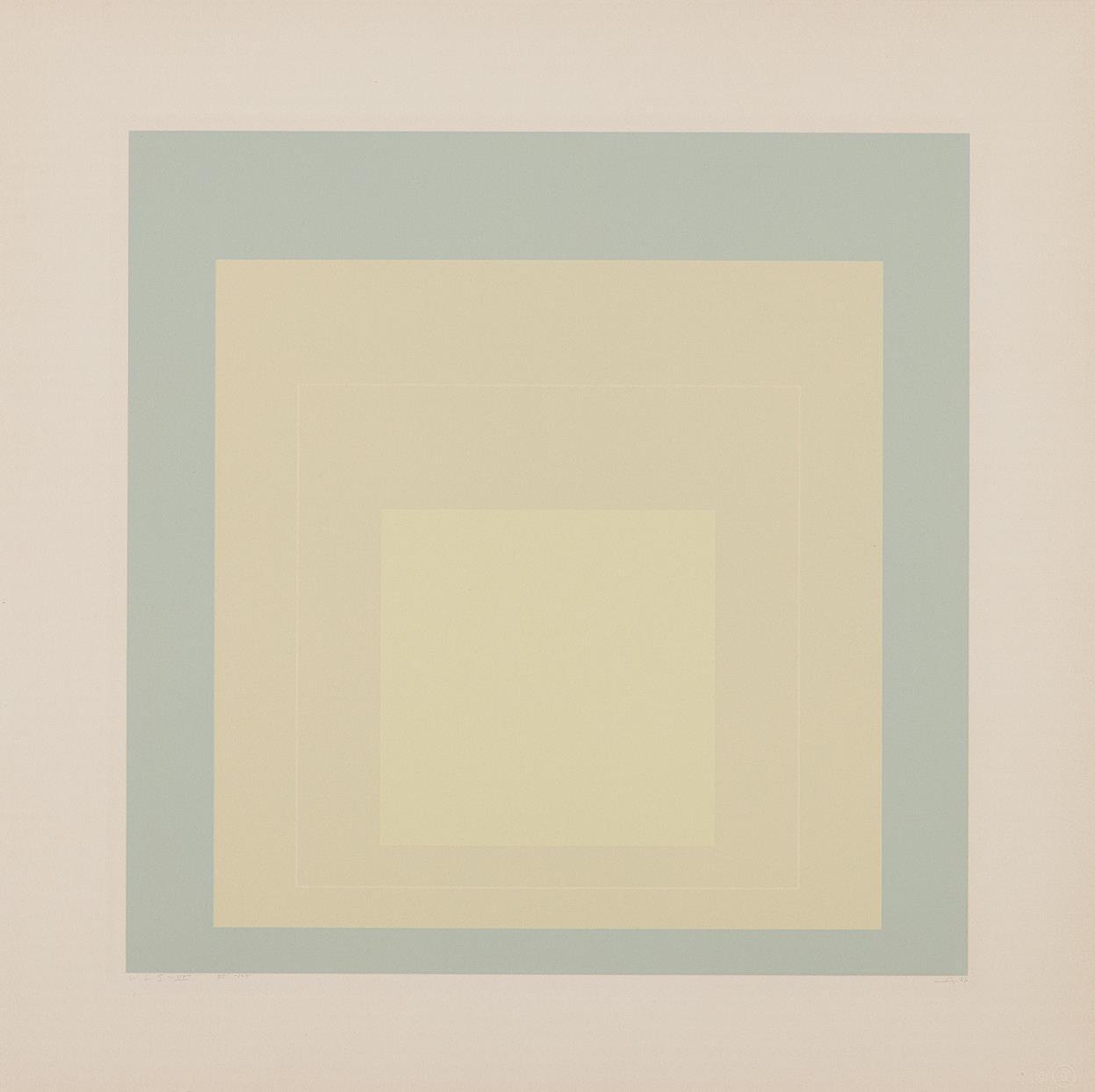 Josef Albers-White Line Squares: White Line Square VII-1966