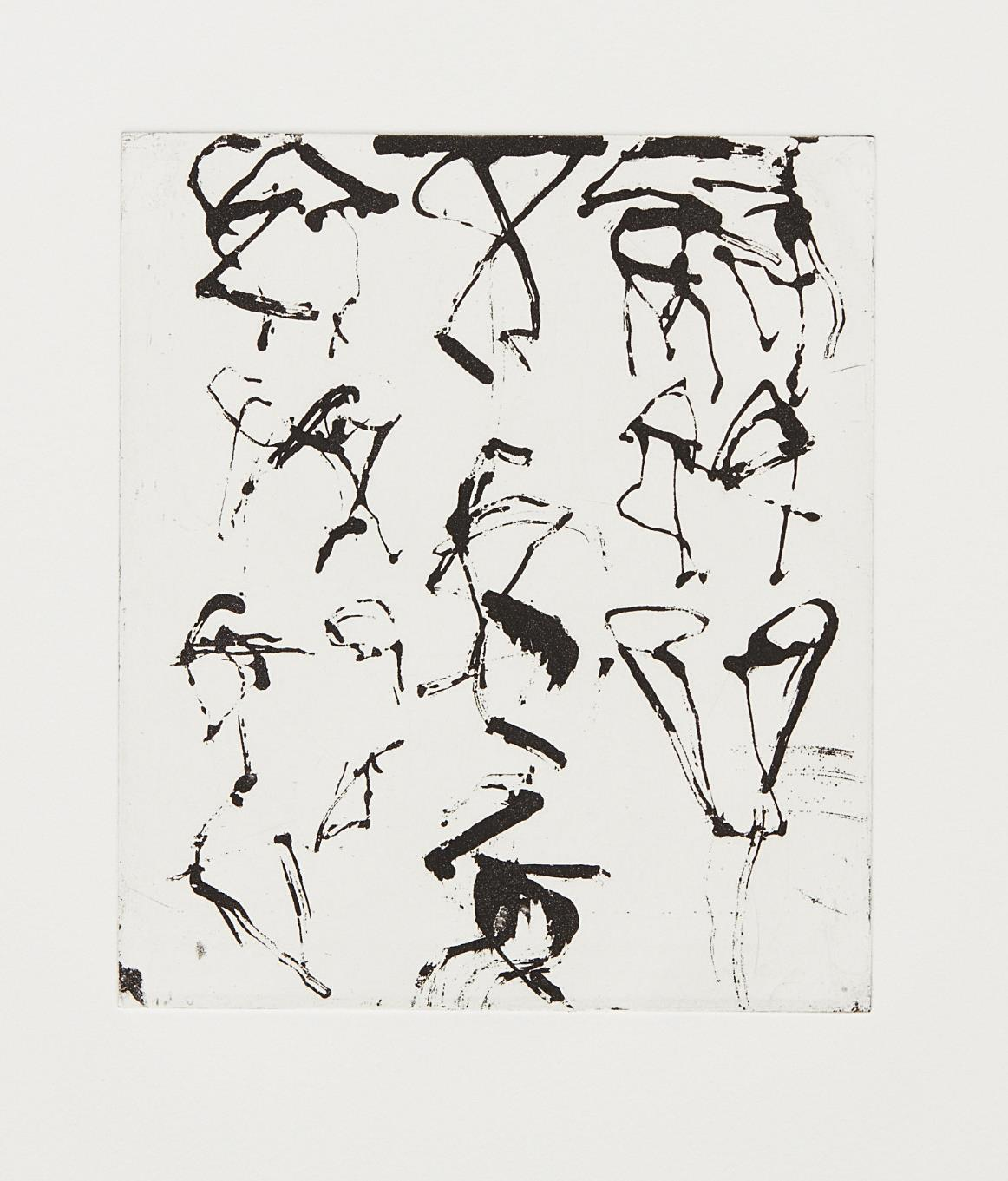 Brice Marden-Etchings to Rexroth #5-1986