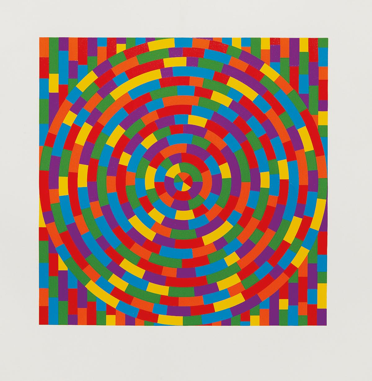 Sol LeWitt-Circle with Broken Bands Within a Square-2003