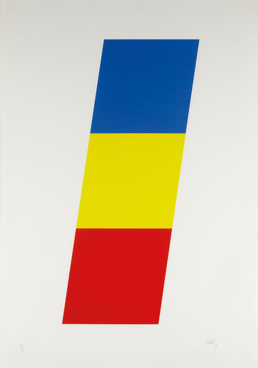 Ellsworth Kelly-Blue Yellow Red-1970