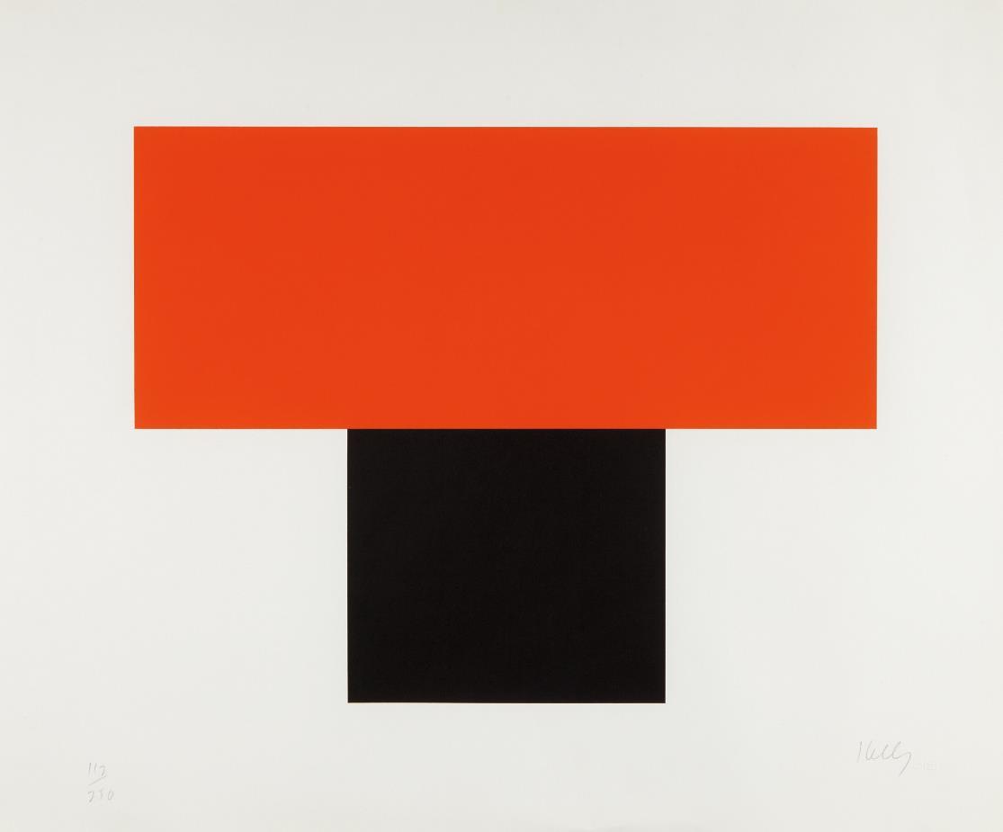 Ellsworth Kelly-Red-Orange over Black-1970
