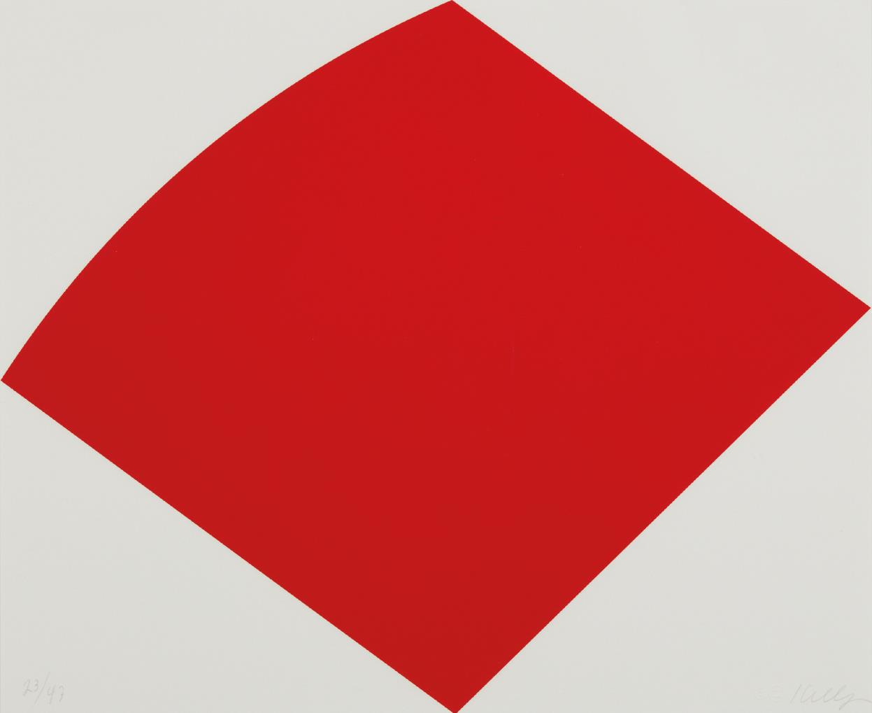 Ellsworth Kelly-Red Curve-1997
