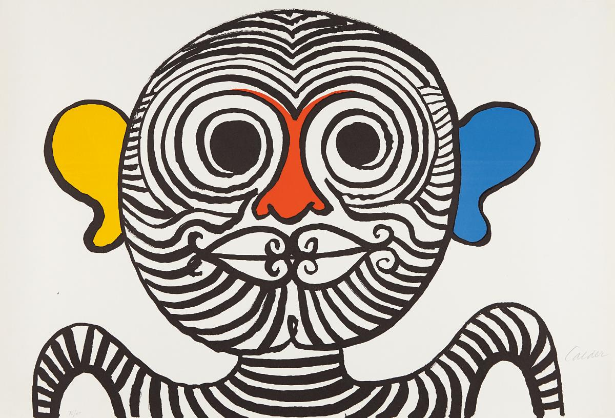 Alexander Calder-Nez et oreilles tres gais (Very Gay Nose and Ears)-1969