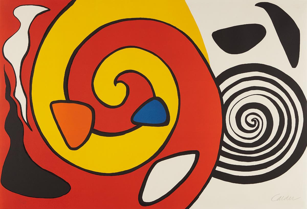 Alexander Calder-Untitled (Spirals and Forms)-1965