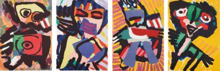 Karel Appel-Four Figural Prints-1973