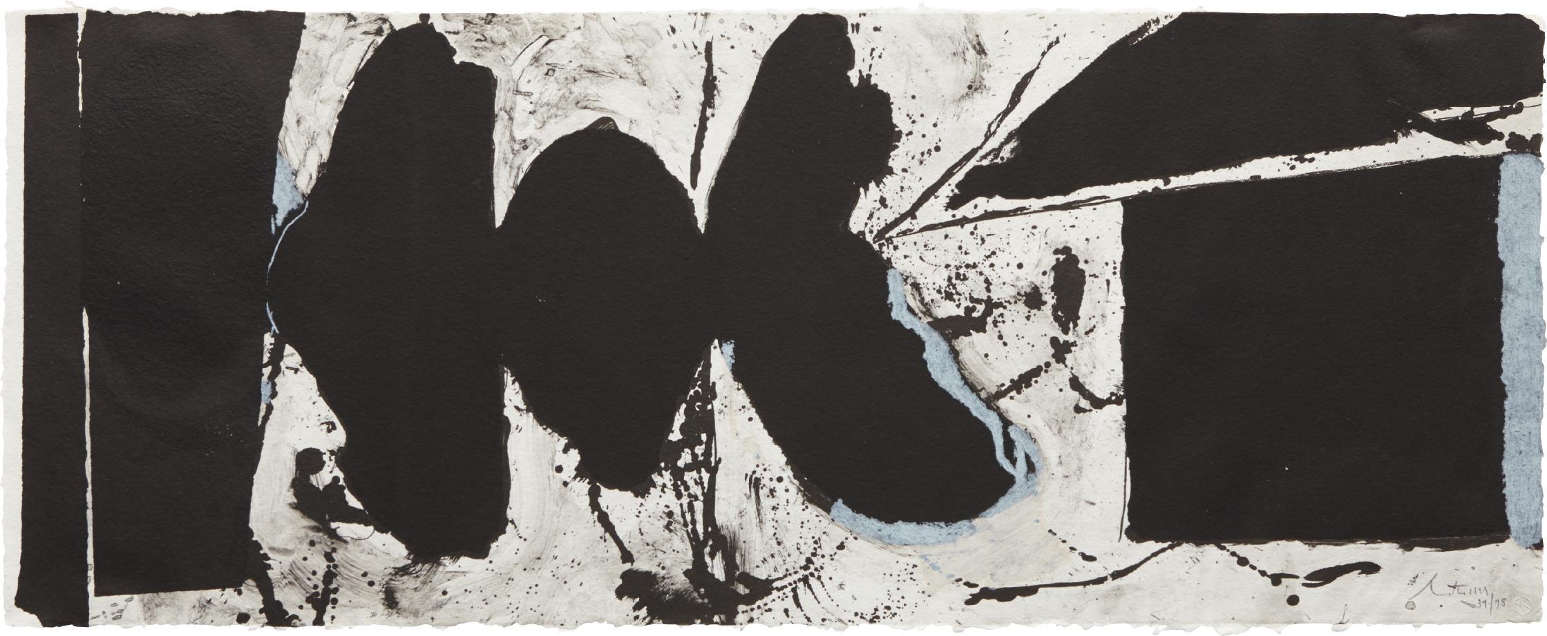 Robert Motherwell-Elegy Black Black-1983