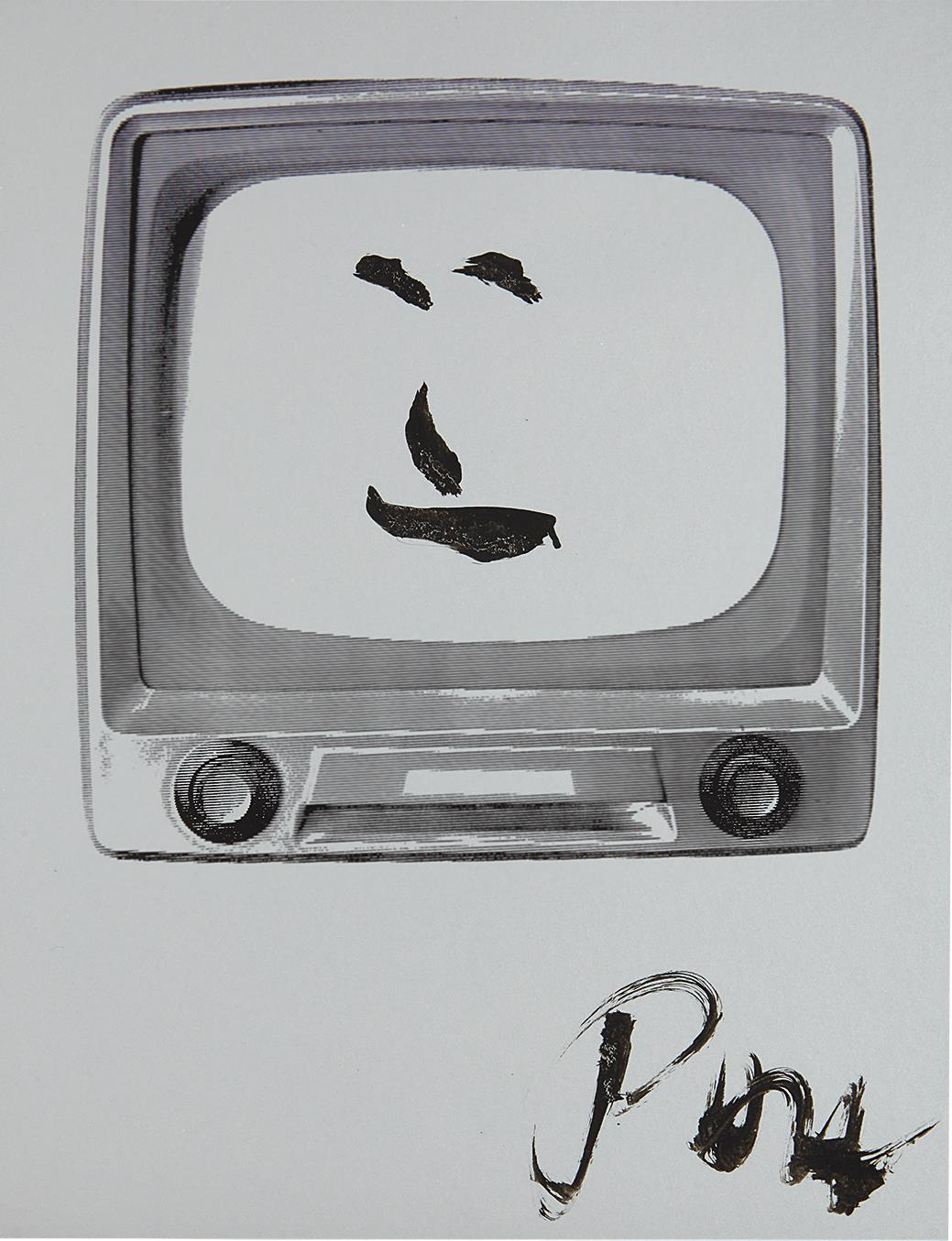 Nam June Paik-Smiling Face-1986
