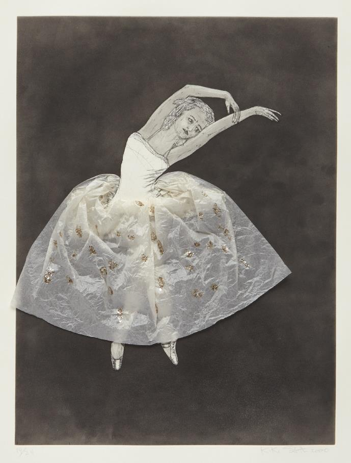 Kiki Smith-Ballerina (stretching right)-2000