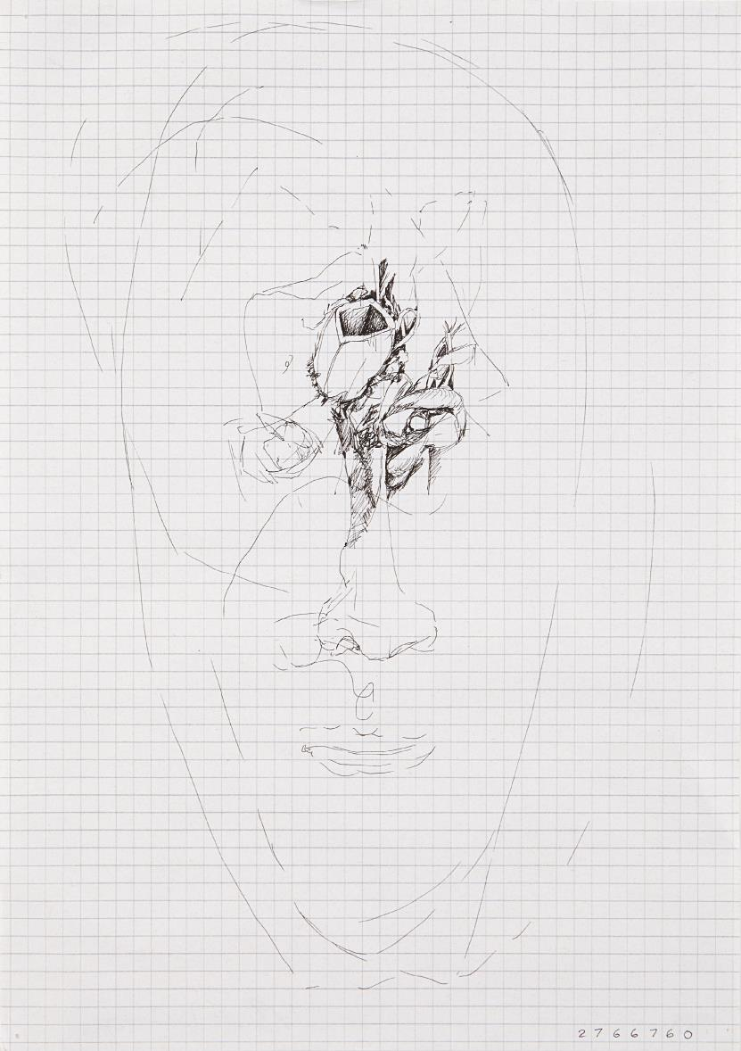 Jonathan Borofsky-Drawing, 2766760-1981