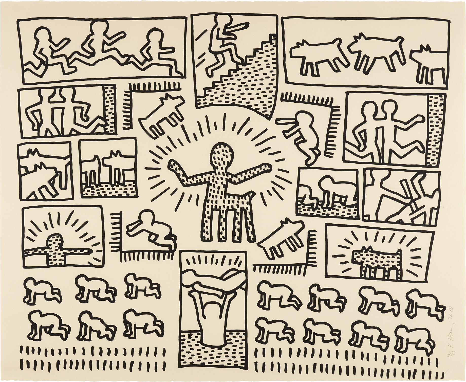 Keith Haring-Blueprint Drawing: one plate-1990
