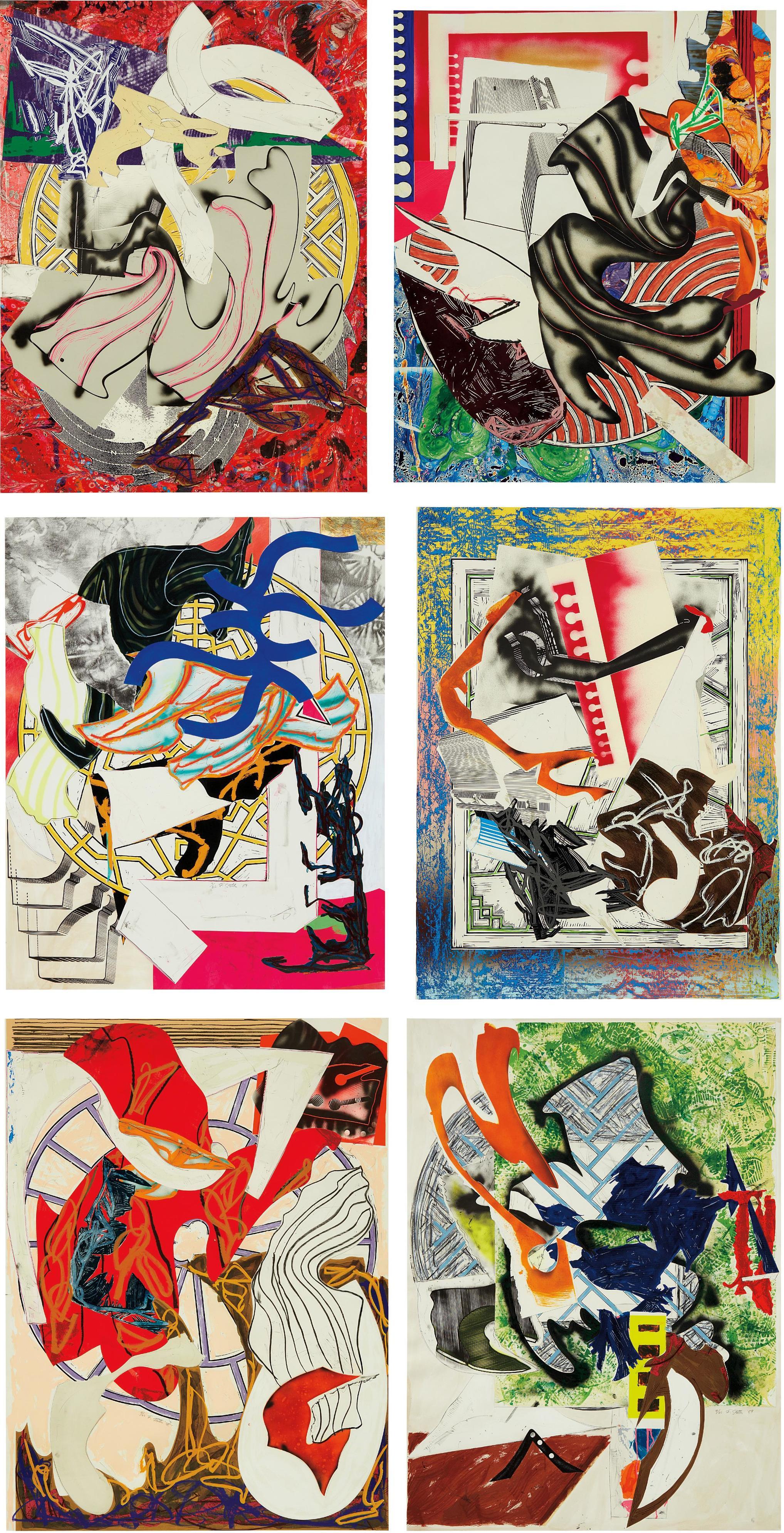 Frank Stella-Waves II: Six Prints-1989