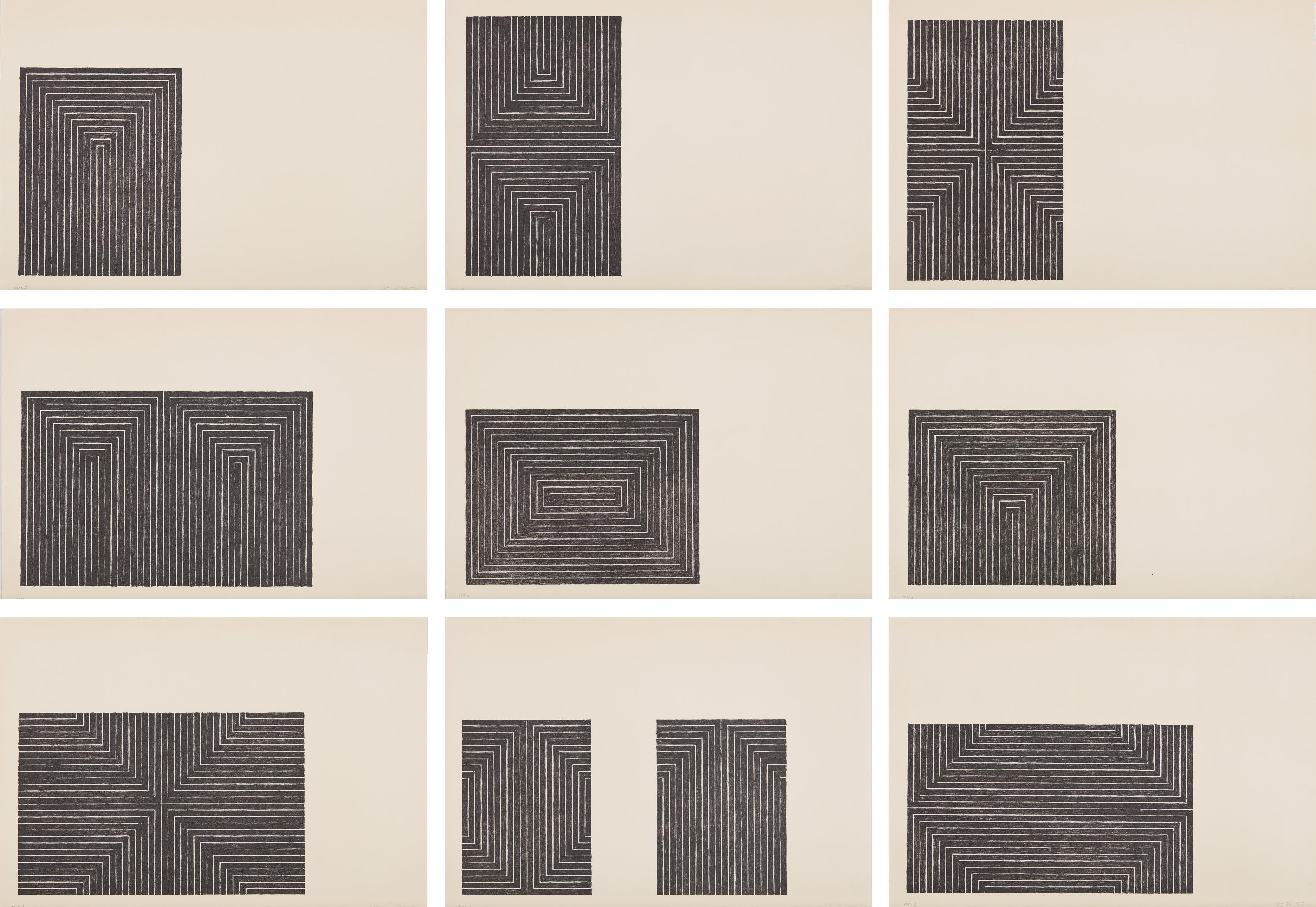 Frank Stella-Black Series I-1967