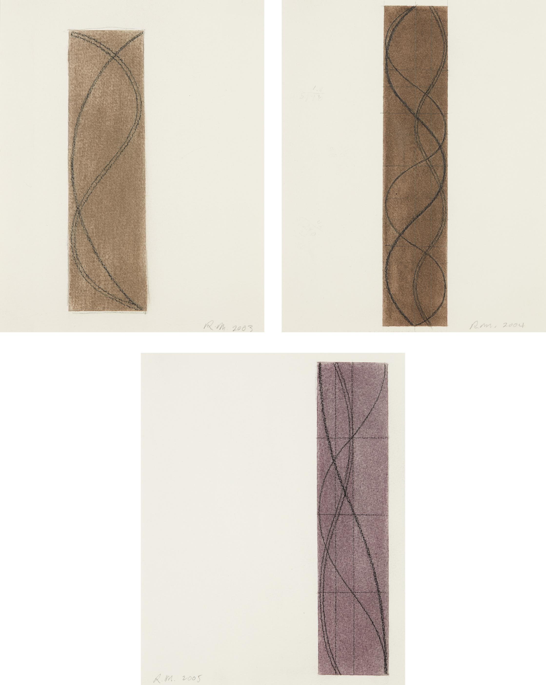 Robert Mangold-Untitled (Three Column drawings)-2005