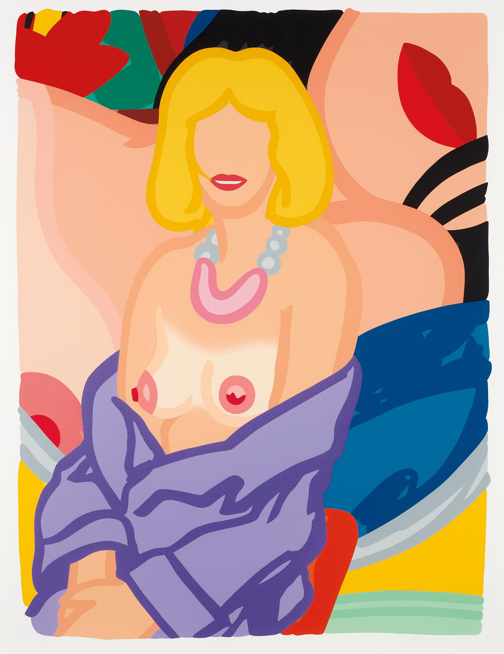 Tom Wesselmann-Claire with Robe Half Off (Vivienne), from Portfolio 90-1993