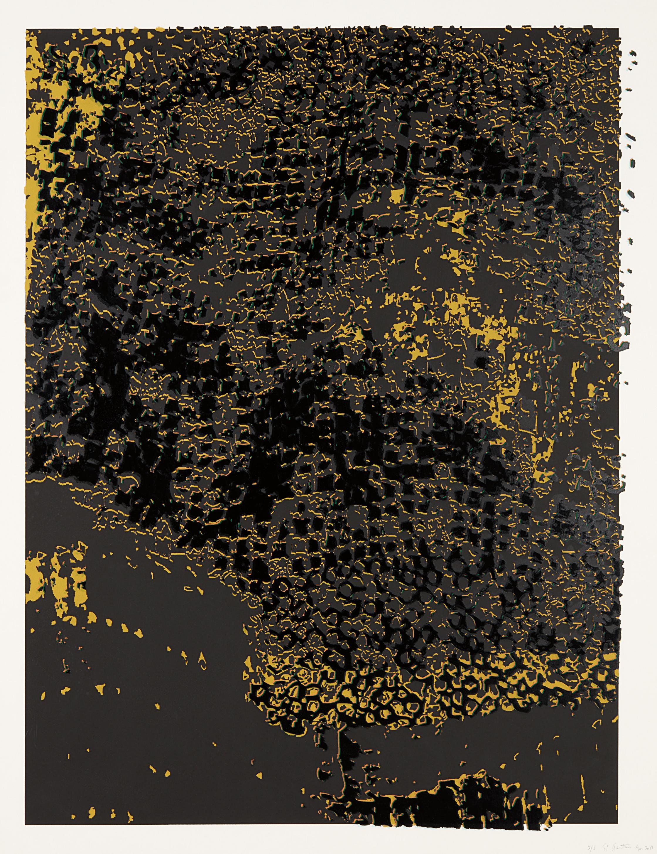 El Anatsui-Untitled (Black Edge with Pearl)-2013