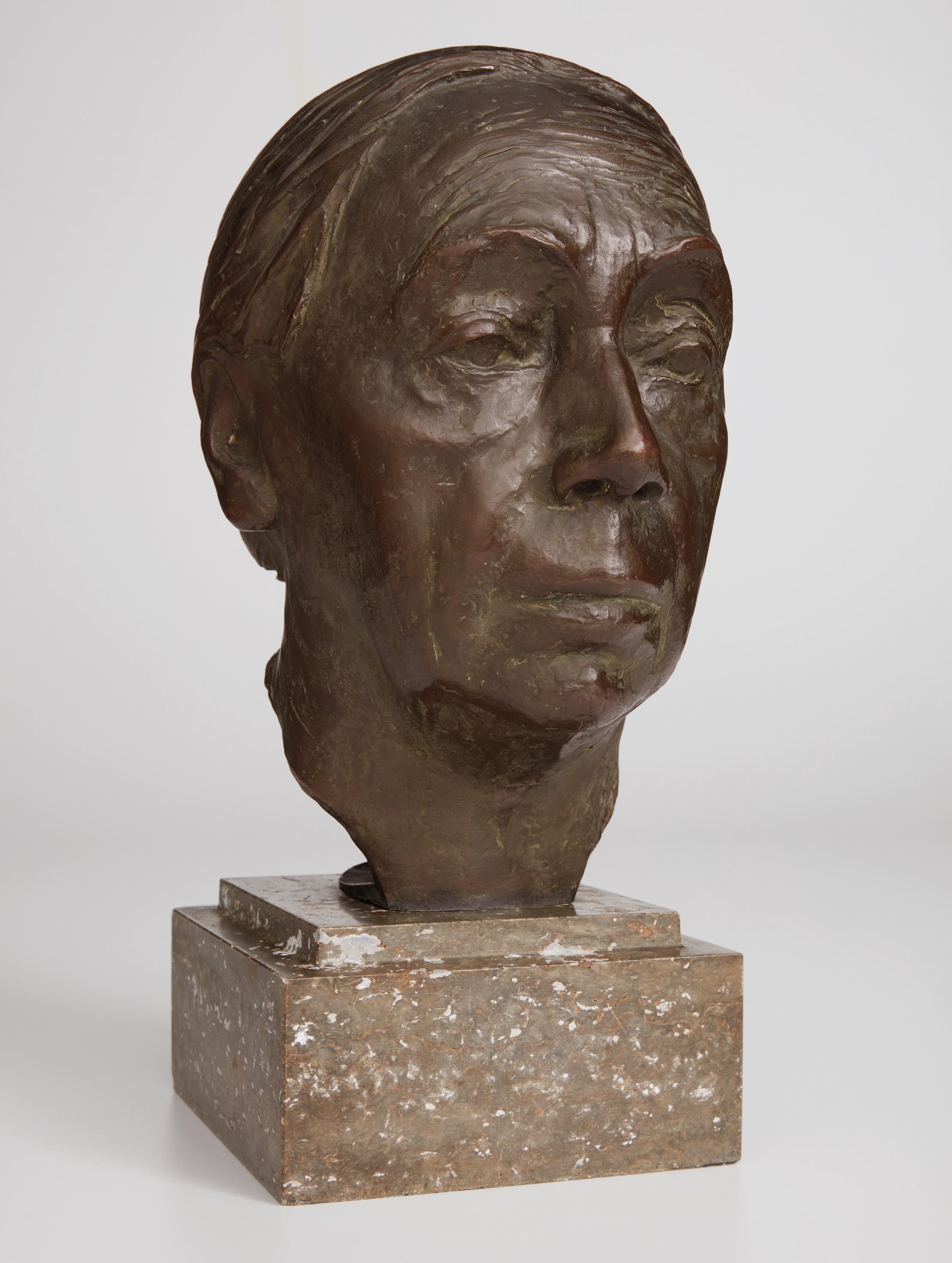 Kathe Kollwitz-Selbstbildnis (Self-Portrait)-1939