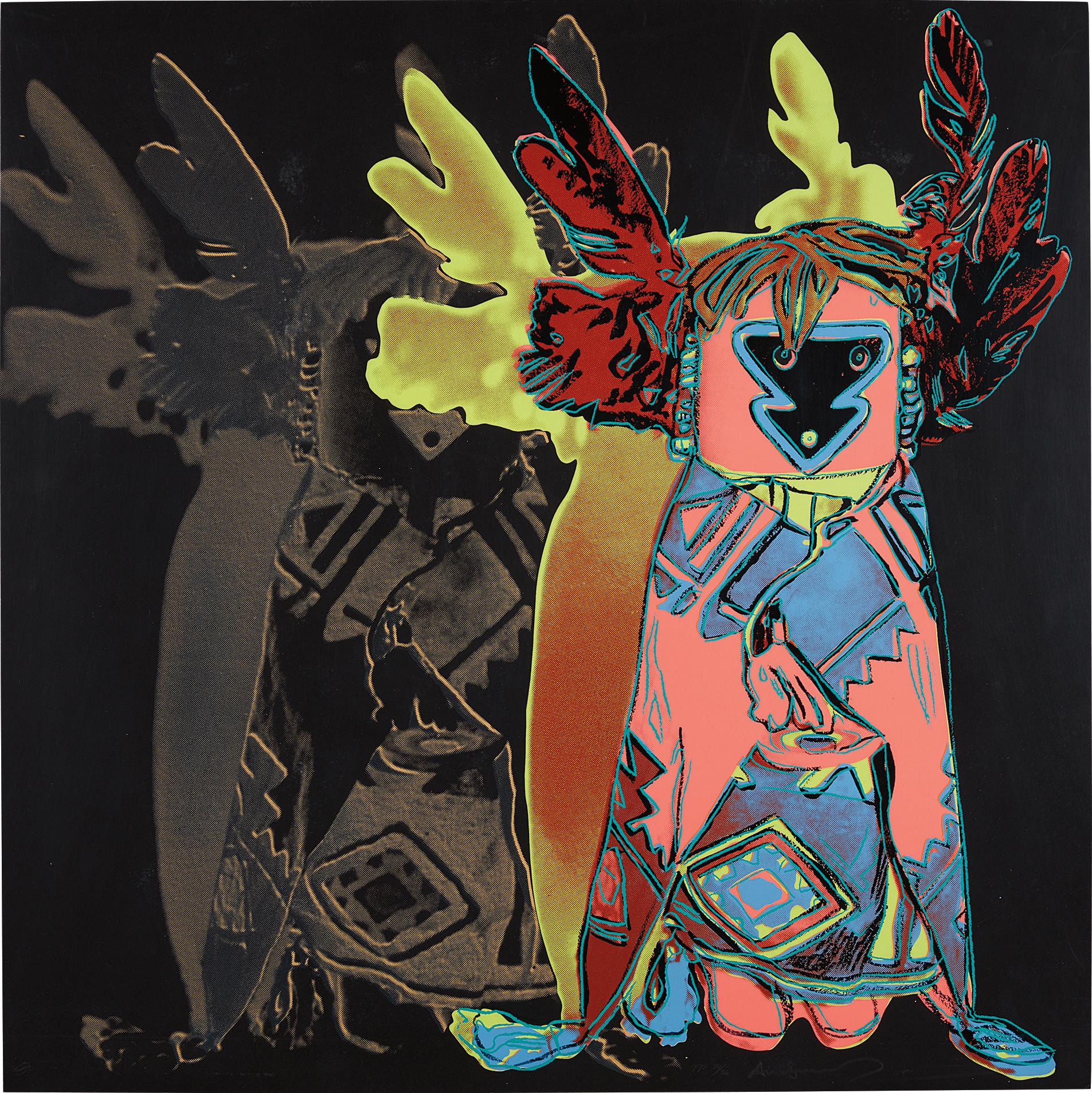 Andy Warhol-Kachina Doll, from Cowboys and Indians-1986