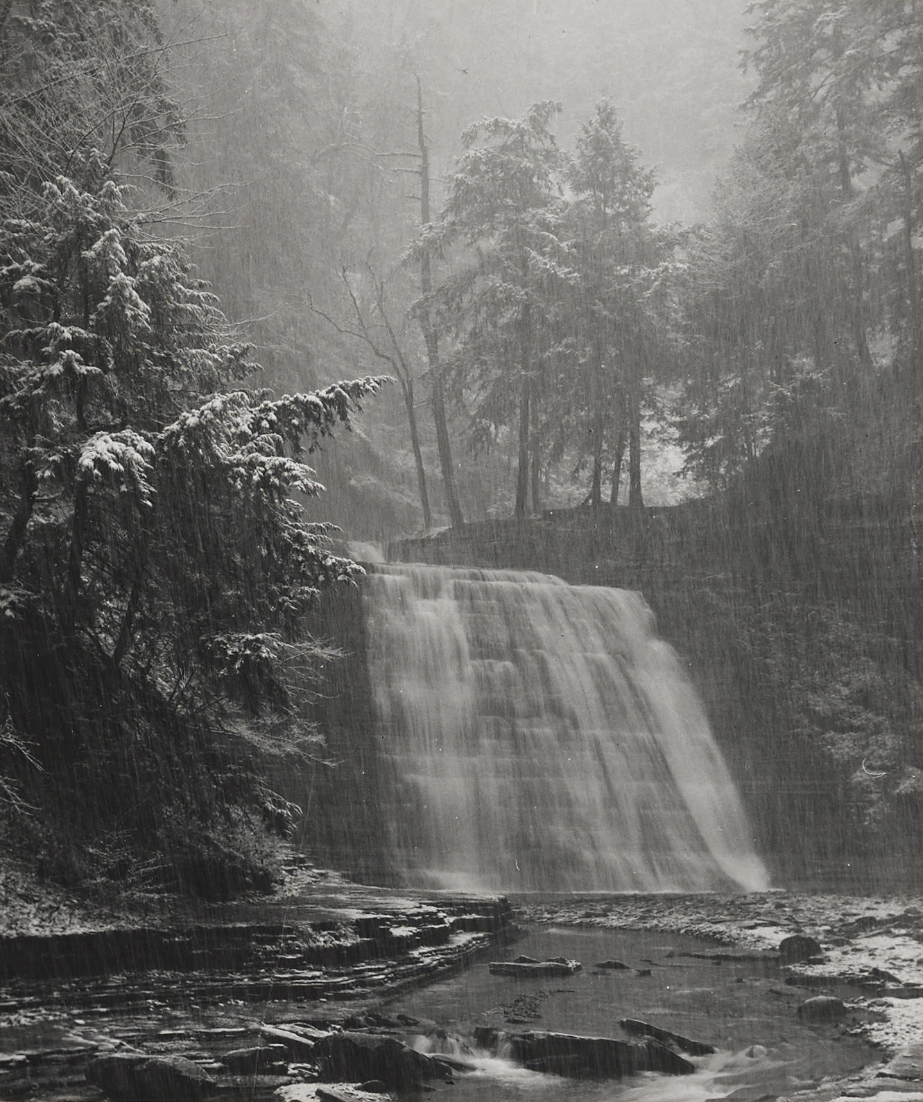 Minor White-Waterfall, Stony Brook State Park-1959