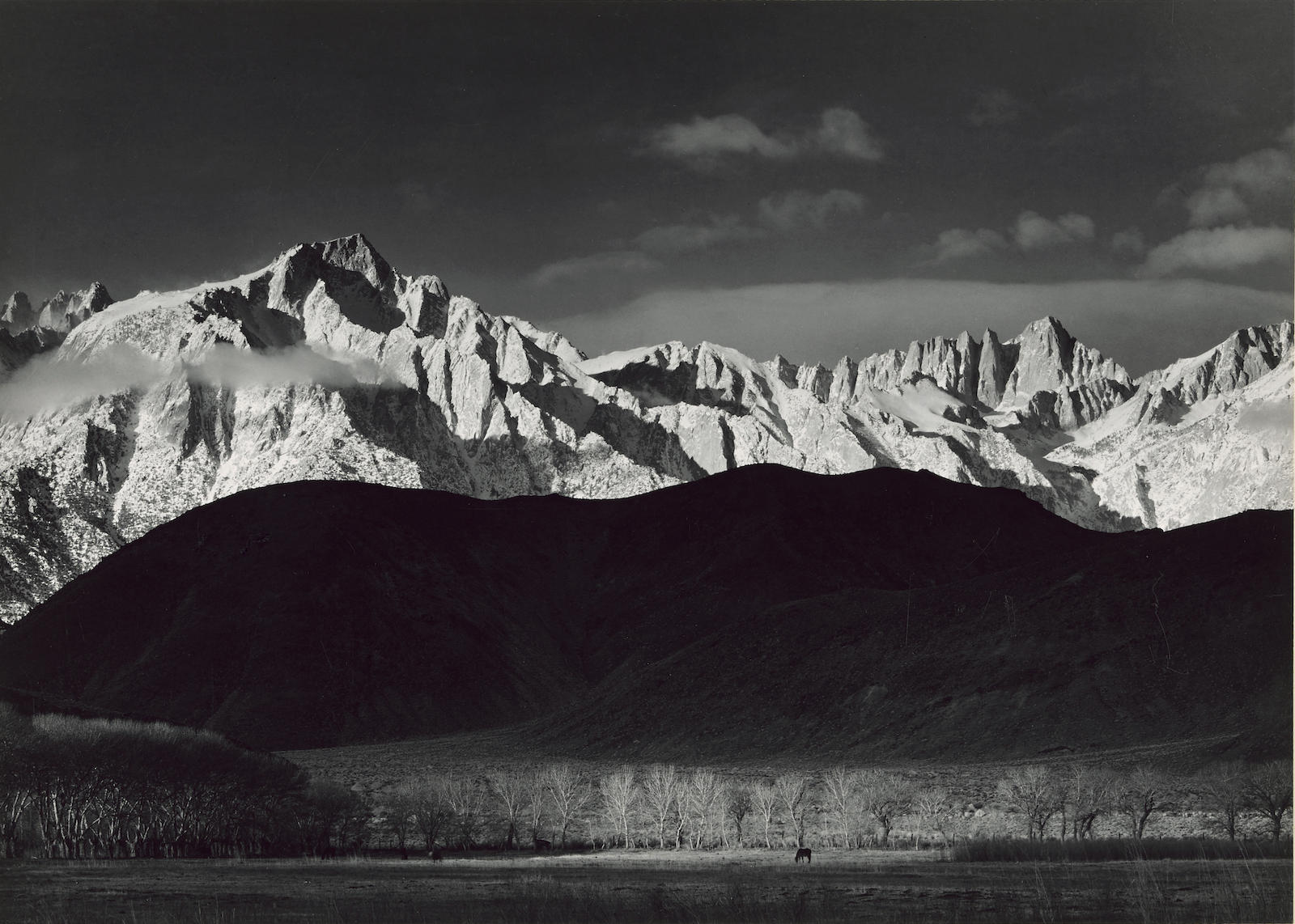 Ansel Adams-Winter Sunrise, Sierra Nevada from Lone Pine, California-1944