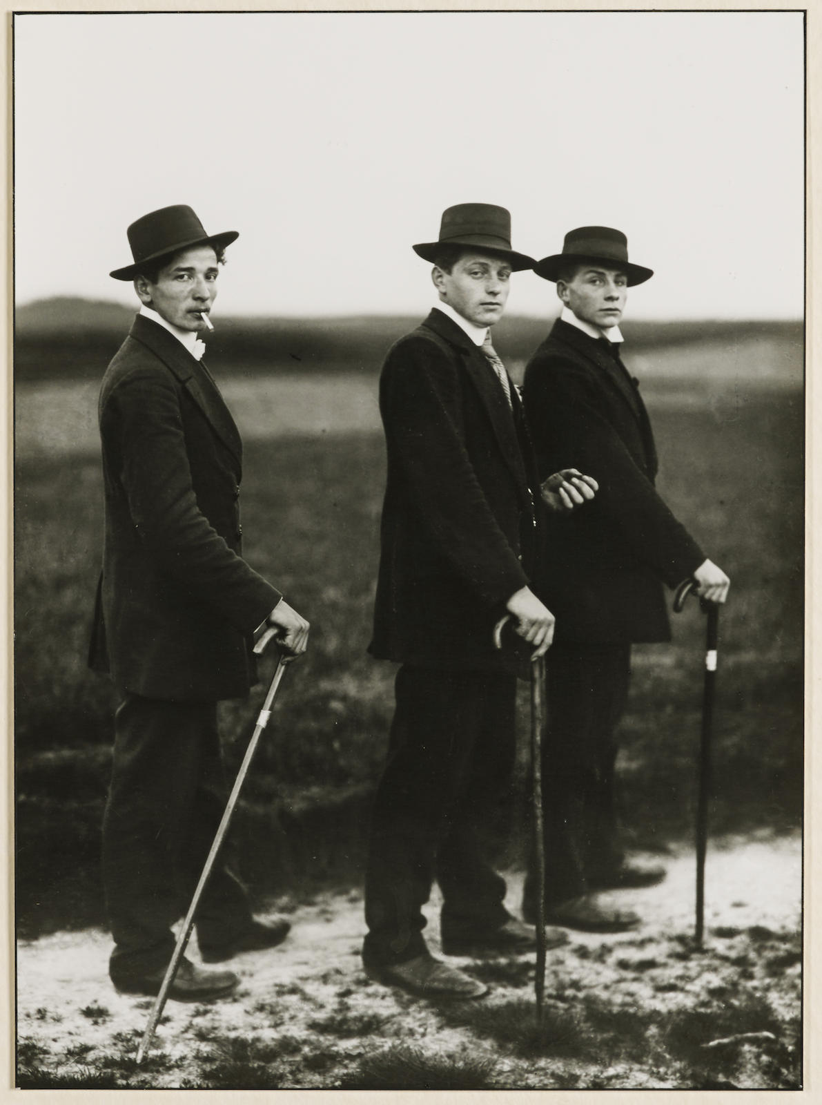 August Sander-Jungbauern (Young Farmers)-1914