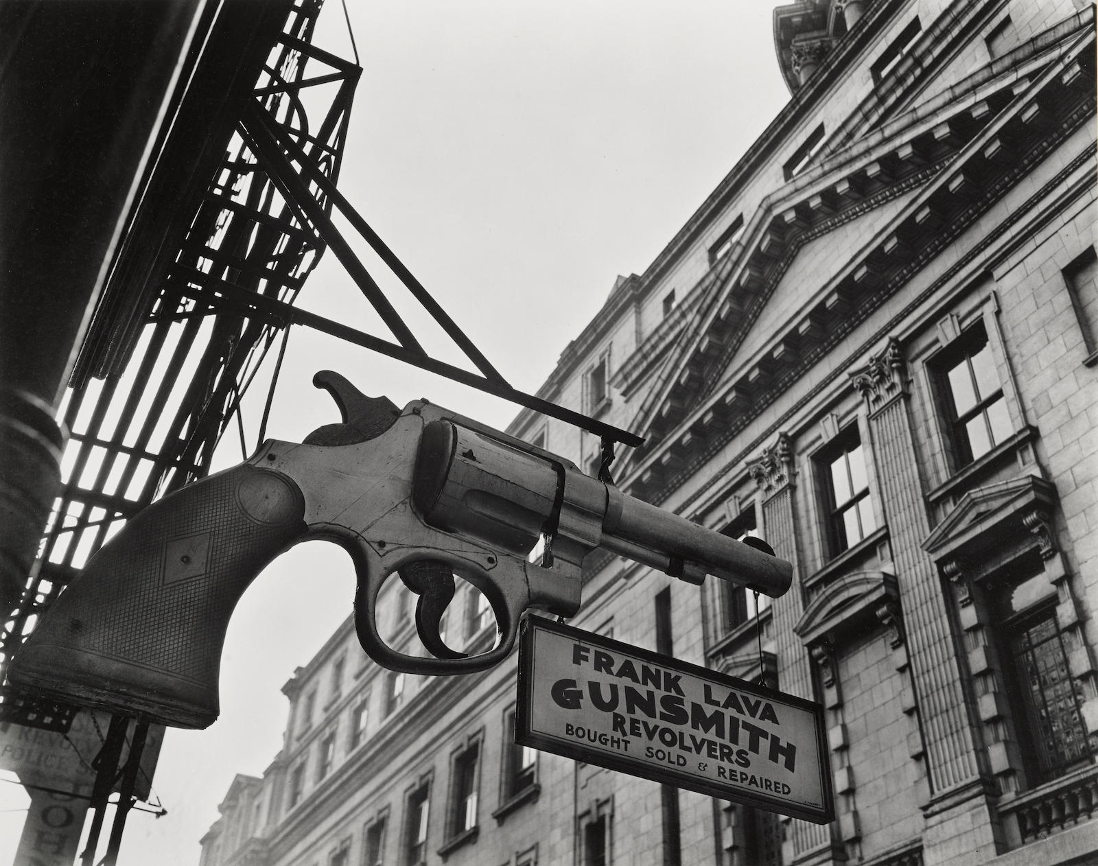 Berenice Abbott-Gunsmith and Police Department, 6 Centre Market Place, Manhattan-1937
