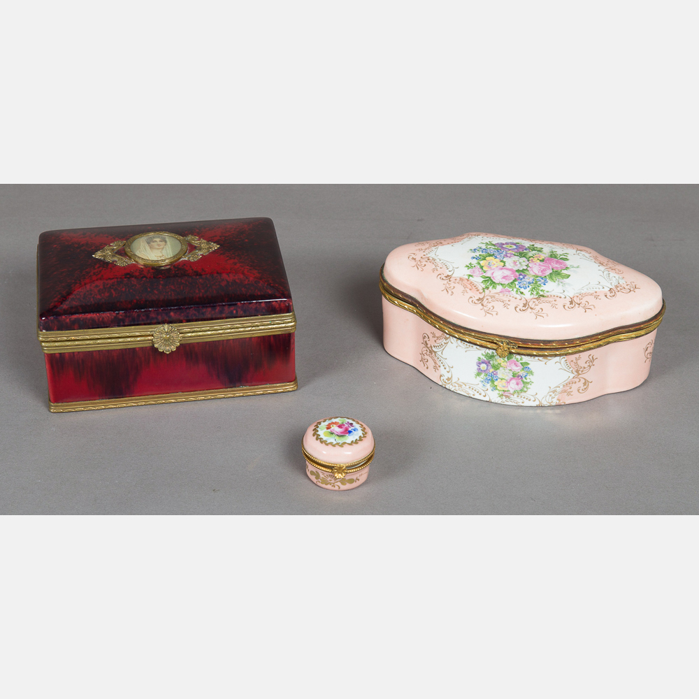 Three French Boxes-