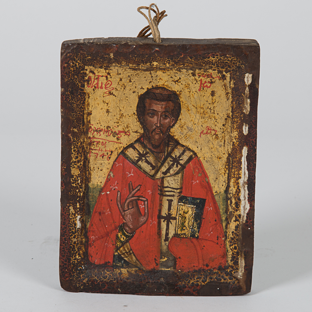 Painted Icon of a Saint-