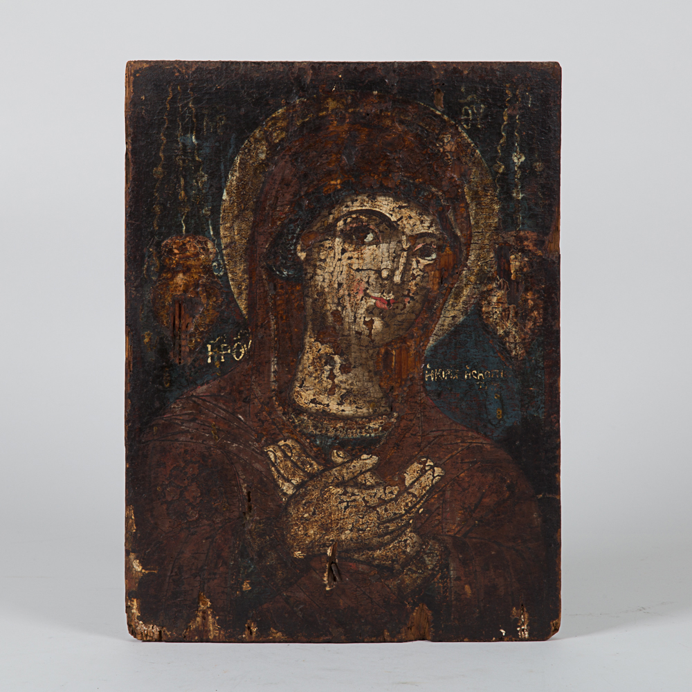 Painted Icon of Virgin Mary-