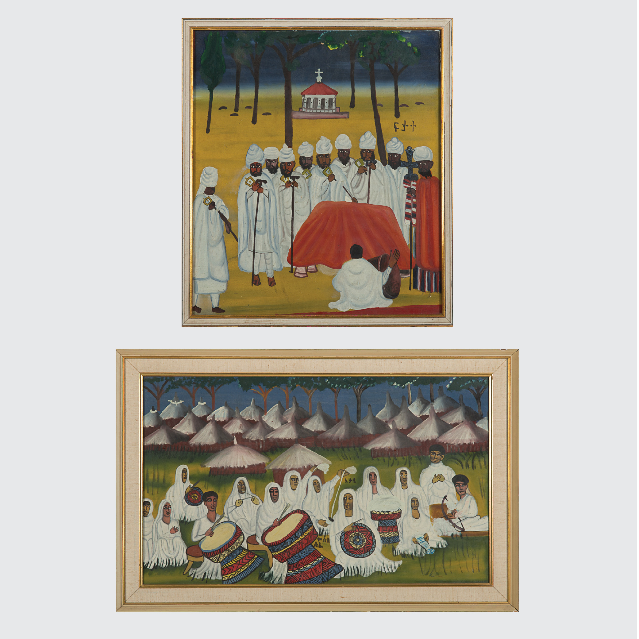 Two Ethiopian Religious Paintings-