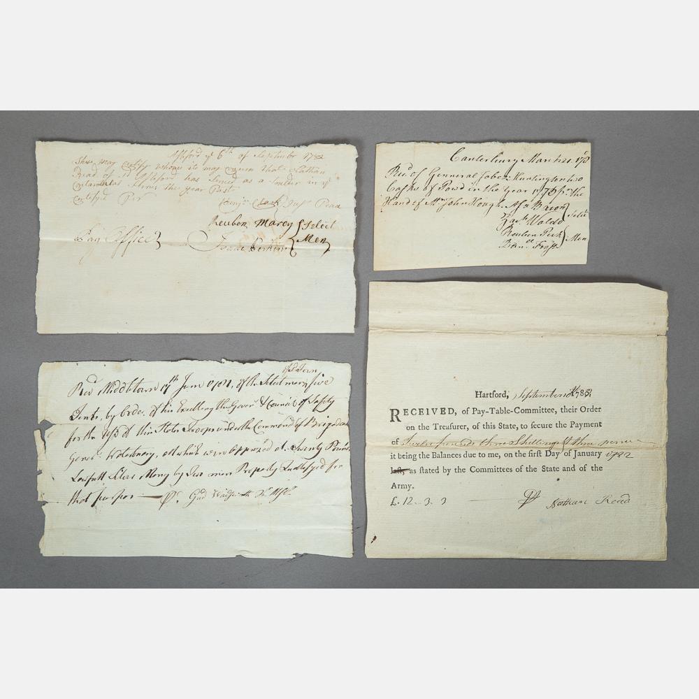 Revolutionary War Pay Stubs-