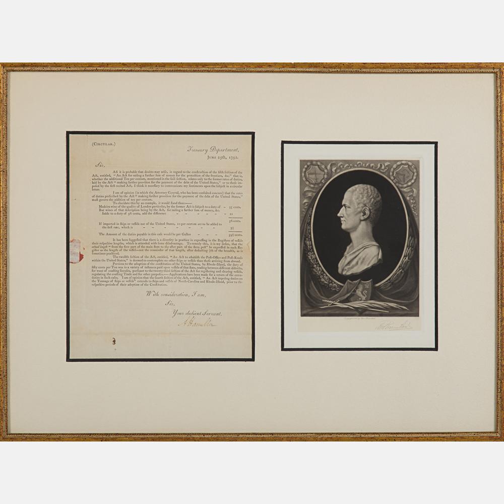 Alexander Hamilton Signed Document-