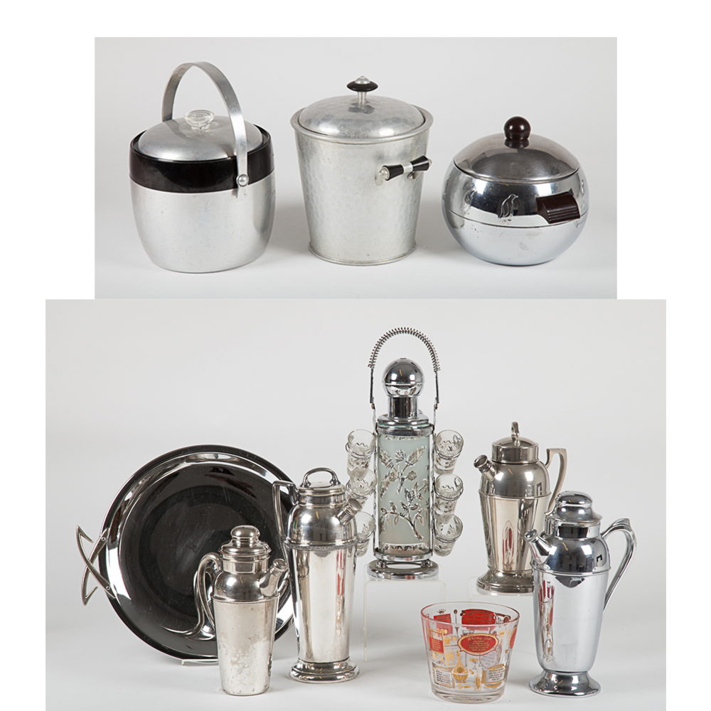 Vintage Bar Ware and Shakers-