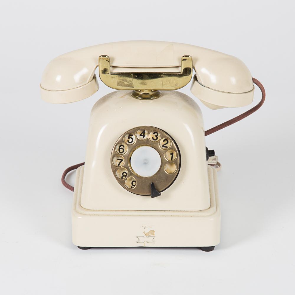 Vintage Metal Telephone-