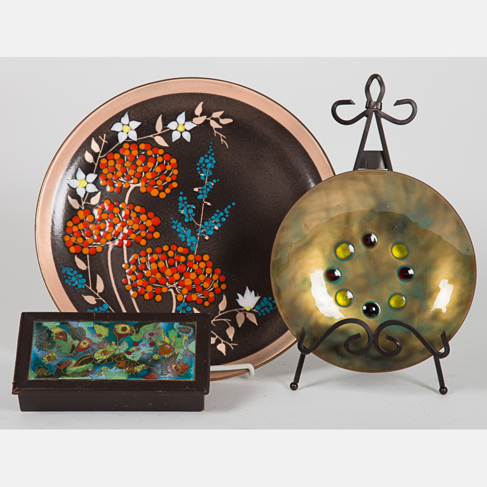 Enameled Plates and Box-