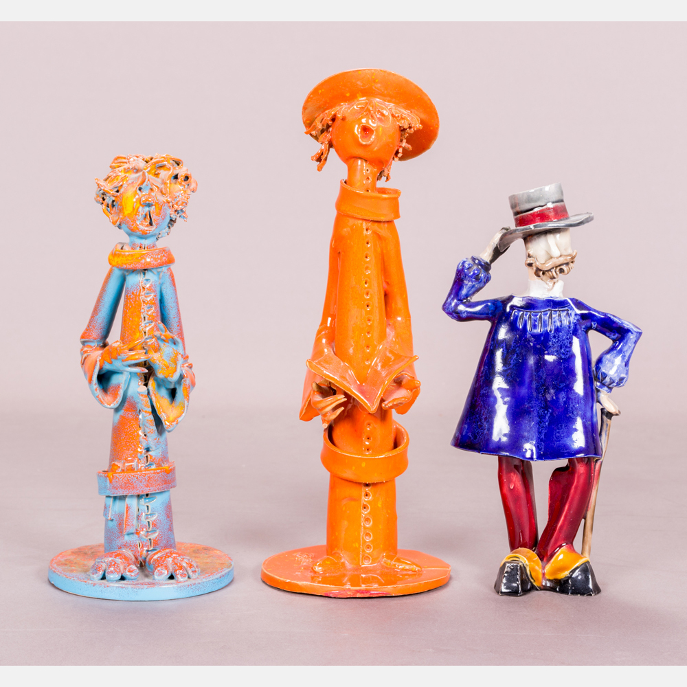 A Group of Three Italian Ceramic Figurines-