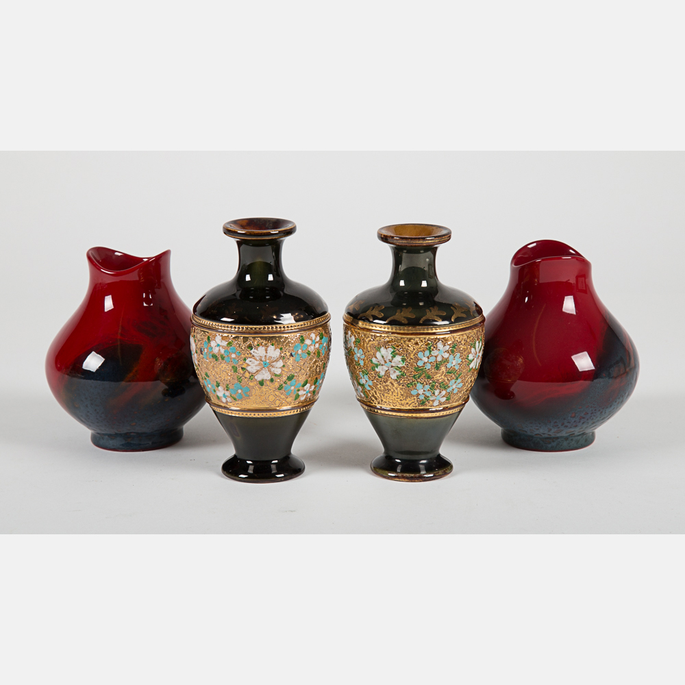 Royal Doulton Sung Flambé Vases-
