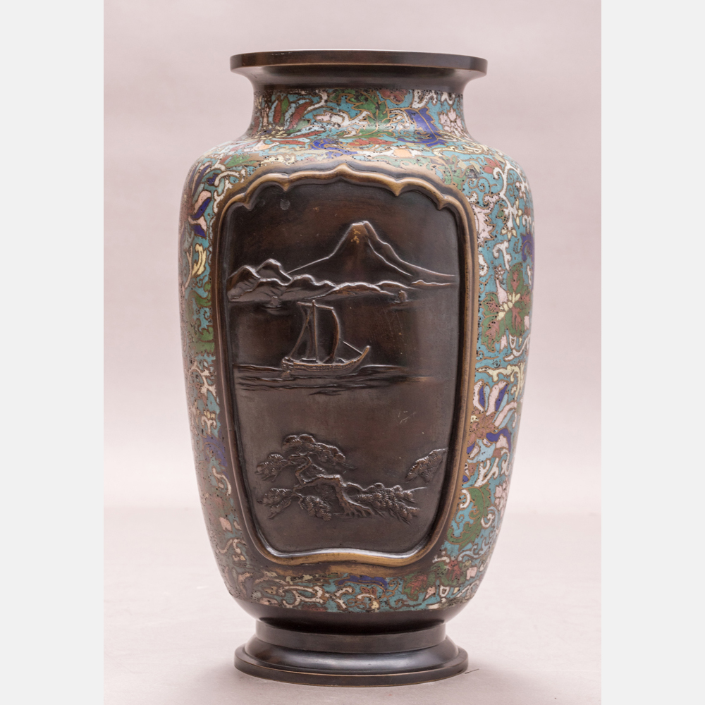 A Japanese Cloisonné Vase-