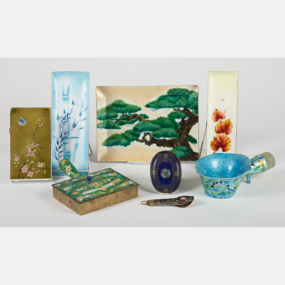 Japanese Cloisonné Items-