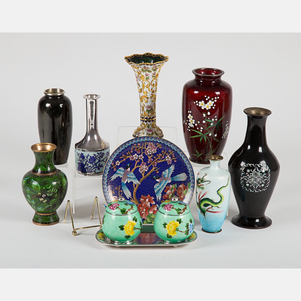Asian Cloisonné and Enameled Items-