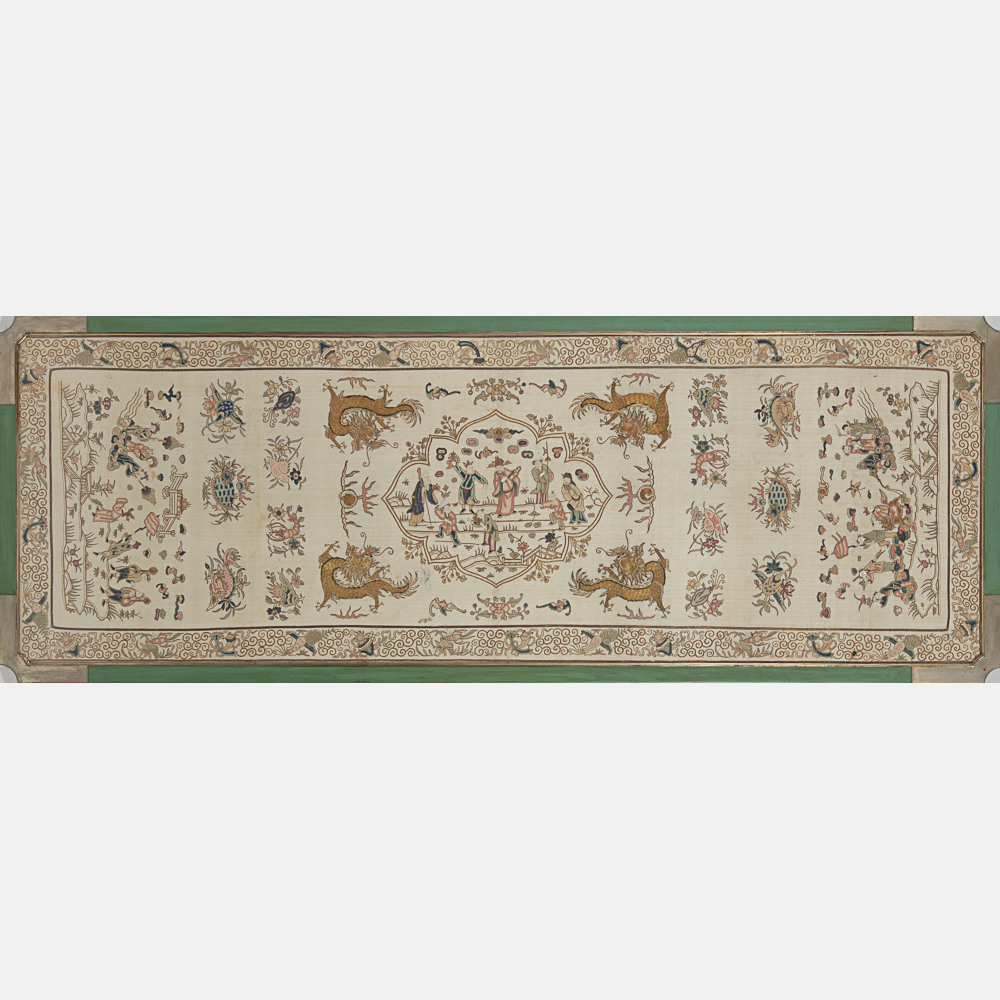 Chinese Embroidered Silk Panel-