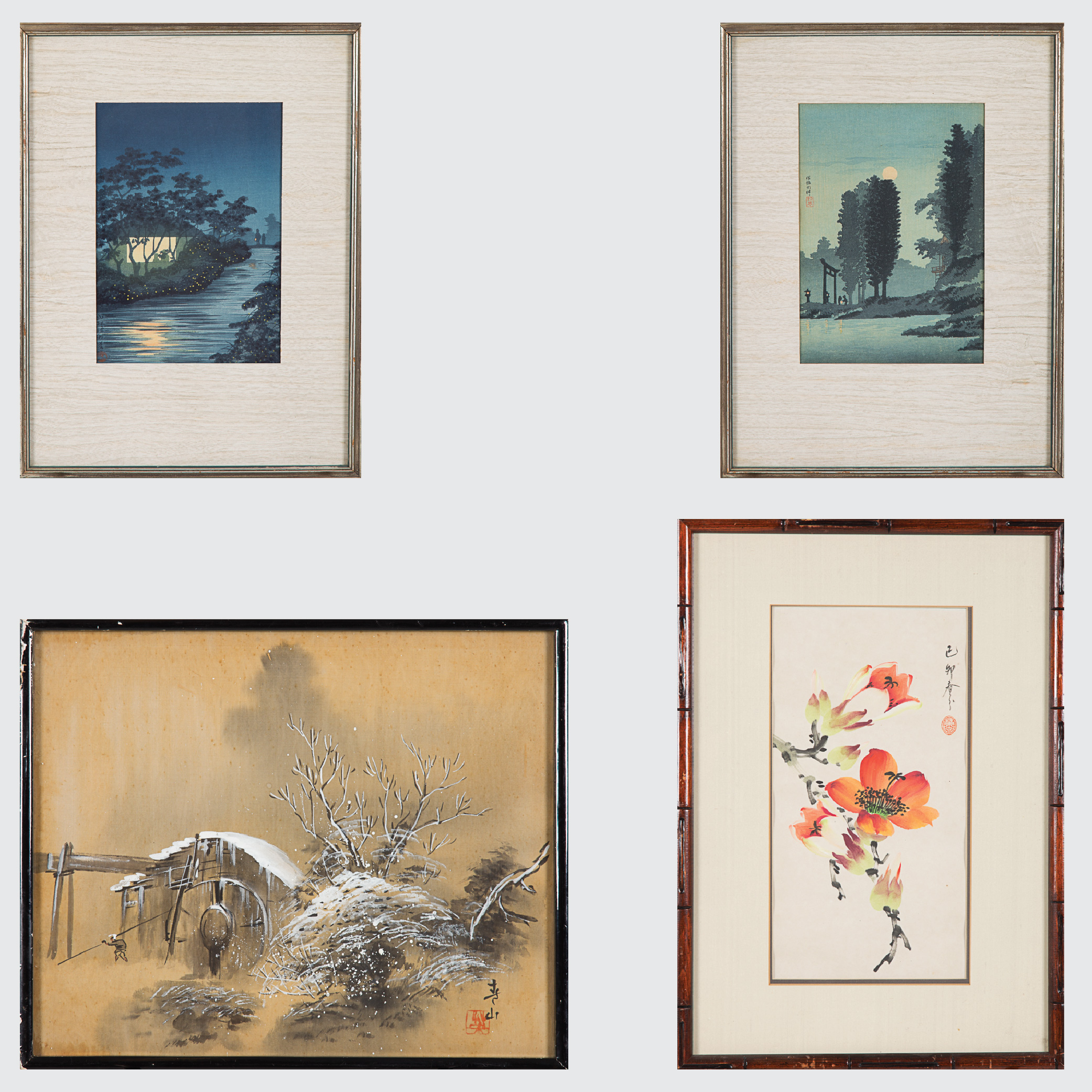 Four Japanese Artworks-