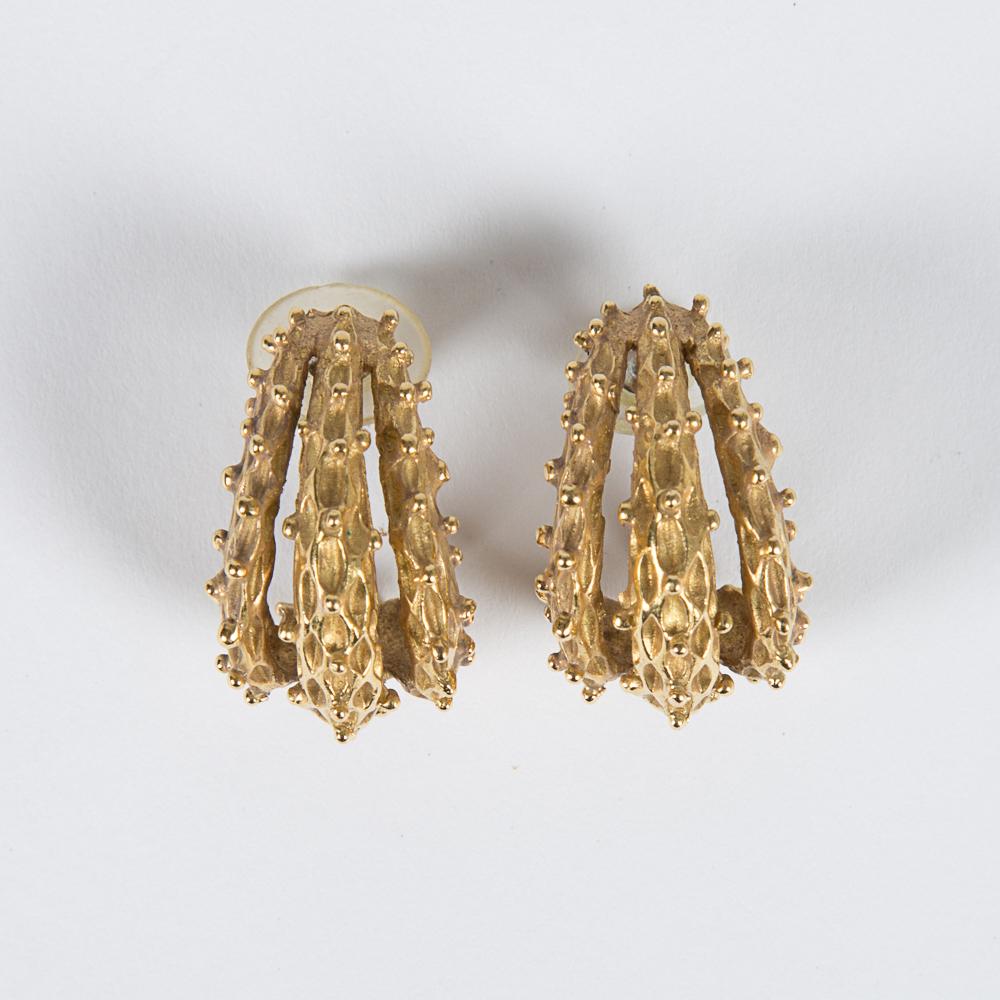 Yellow Gold Earrings-